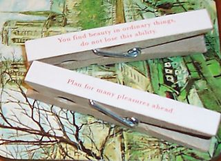Too Cute Tuesday: Fortunate Clothes Pins